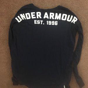 Under Armour long sleeve T-shirt navy